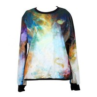 Galaxy Print Leisure Sweatshirt