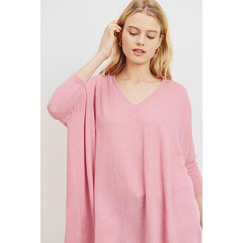 Stay a Little While Pink Top
