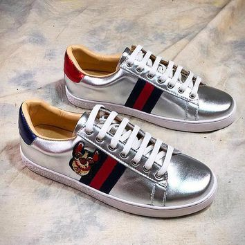 GUCCI Ace Embroidered Low Top Sneaker #8 - Best Online Sale