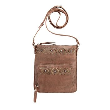 American West Moon Dancer Crossbody Dusty Rose Bag/Wallet 4113493