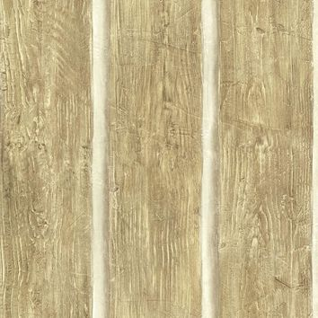 Brewster Wallpaper TLL51015 Chinking Maple Wood Panel