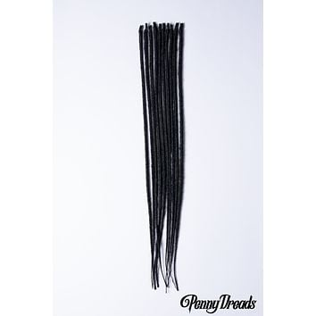 Black U-Tip Synthetic Dreadlocks (10 pieces)