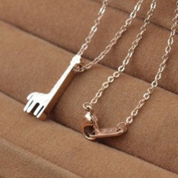 316L Stainless Steel 14K Rose Gold Plated Giraffe Pendant necklace [8321354823]