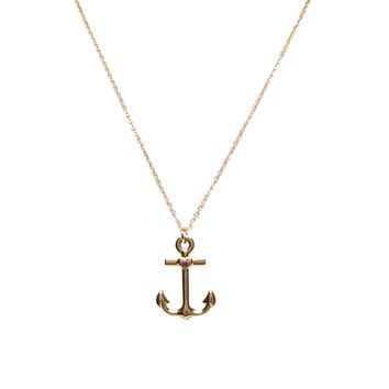 Gold Anchor Necklace by Jules Smith