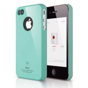 ELAGO EL-S4SM-CBL-BA S4 Slim Fit Case for AT&T, Sprint, Verizon iPhone 4/4S - 1 Pack - Retail Packaging - Coral Blue