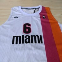 LeBron James Miami Heat 6 Hardwood Classic 1970-1971 Lebron James NBA Basketball Jersey