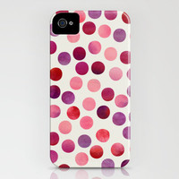 Watercolor Dots_Berry iPhone Case by Garima Dhawan | Society6