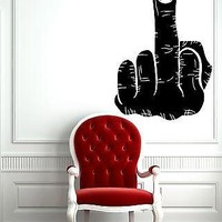 Wall Vinyl Sticker Decal Fuck-Off Rude Offensive Joking Fun College Decor Unique Gift (m522)