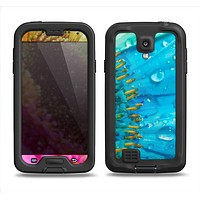 The Vibrant Colored Wet Flower Samsung Galaxy S4 LifeProof Nuud Case Skin Set