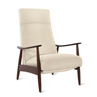 Milo Baughman Recliner 74 in Fabric