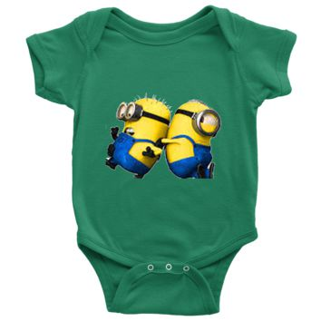 A baby Minion's and playful in his little world ?