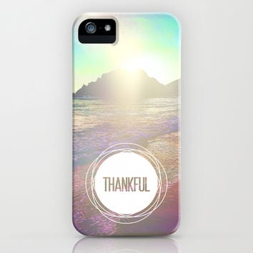 1 Thessalonians 5:18 Thankful iPhone & iPod Case by Pocket Fuel