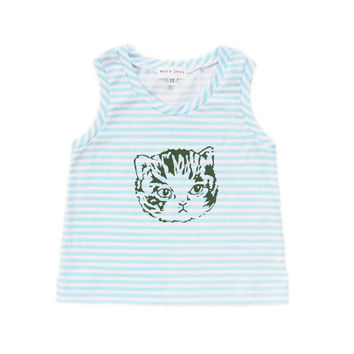 Kitty Stripes Tank | 1T