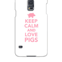 Keep calm and love Pigs - Samsung Galaxy S5 Case
