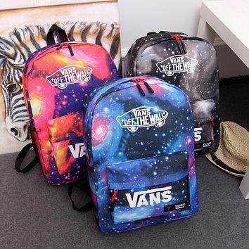 One-nice™ VANS : Galaxy Casual Sport Laptop Bag Shoulder School Bag Backpack