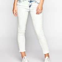 Tinseltown Acid Wash Womens Cutoff Ankle Skinny Jeans Acid Wash  In Sizes