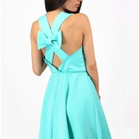 The Mint Bow Back Dress