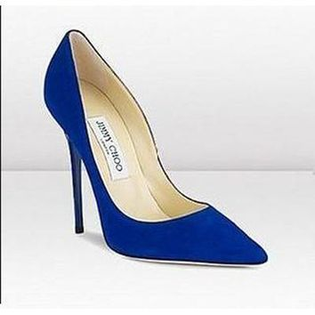 Jimmy Choo Women Fashion Pointed Toe Heels Shoes