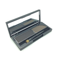 Professional Eye Brow Makeup 2 Color Eye Shadow Eyebrow Powder Palette WIth Oblique Head + Spiral Brush Make Up