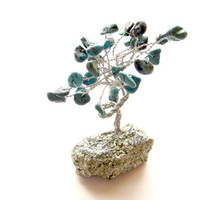 Turquoise 'Gem Tree' on Sparkling Iron Pyrite Base