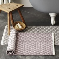 Diamond Flat Weave Bath Mat