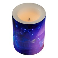 Abstract purple Triangles Flameless Candle