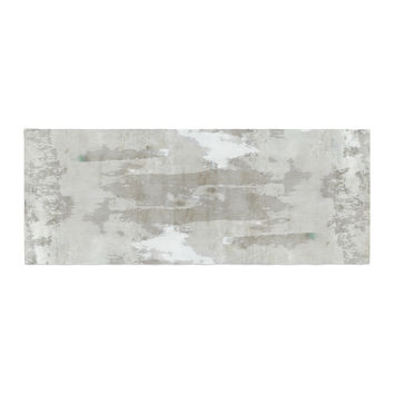 "CarolLynn Tice ""Effortless"" Neutral Gray Bed Runner"