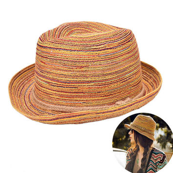 s sombreros women colorful straw sunhats Jazz Hat beach hats Gifts for women  SM6