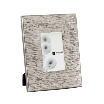 Aluminum Textured 4x6 Photo Frame Nickel