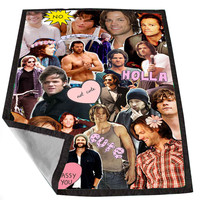 Sam Winchester Supernatural Collage 55e02d20-a61d-4133-958f-f9fc93d03f34 for Kids Blanket, Fleece Blanket Cute and Awesome Blanket for your bedding, Blanket fleece *02*