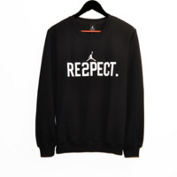 AJ Fall and Winter men and women leisure paragraph jacket round collar basketball wear hedging campaign plus cashmere sweater