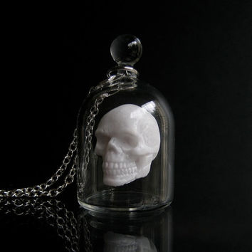 Skull in a Glass Jar Necklace
