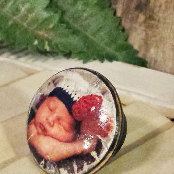 Send Us Baby Picture To Customize Wood Knob Using Your Photo, Pet Photo, Wedding Gift, We Put Your Photo on Drawer Pulls, Great Unique Gift