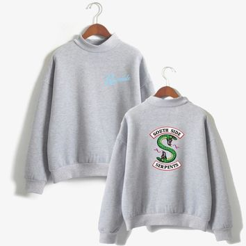 Riverdale Sweatshirts Women and Men Kpop Pink South side Serpents Hoodies Mulheres Long Sleeve Korean Sweatshirt Casual Clothes