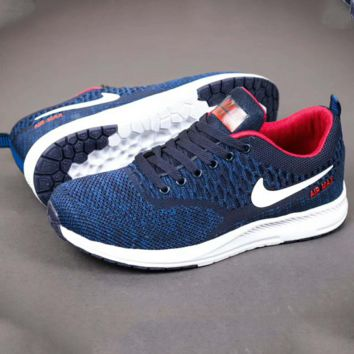 NIKE Men Running Sport Casual Shoes Sneakers Blue Red G-A-YYMY-XY