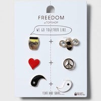 Best Friends Ying Yang Badges