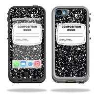 Mightyskins Protective Vinyl Skin Decal Cover for LifeProof iPhone 5C Case fre Case wrap sticker skins Compositon Book