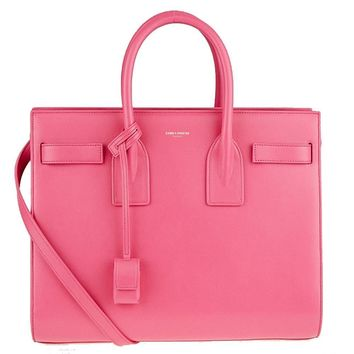 Saint Laurent Sac de Jour Ysl Classic Pink Leather Satchel Handbag 355153