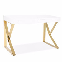 Westgate Desk WHITE/GOLD