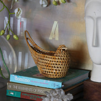 Vintage - Wicker Woodland Bird Basket