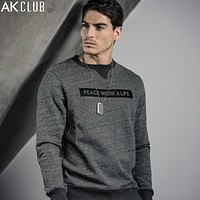 Men Sweatshirt Jumpers Cotton Letter Print Sweat Shirt Crew Neck Jumpers For Men Casual Sweatshirt