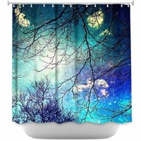 DiaNoche Designs Shower Curtains by Sylvia Cook Stylish, Decorative, Unique, Cool, Fun, Funky Bathroom - Night Sky