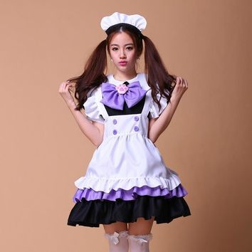 maid costumes women cosplay lolita pink purple french anime beer adult naughty halloween sissy maid dress cosplay sexy japanese
