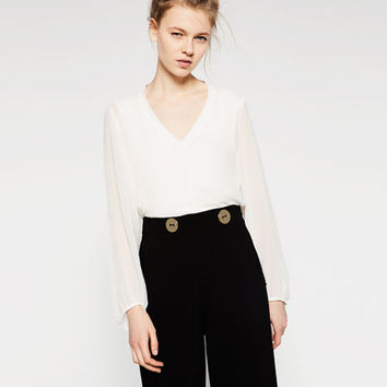 V - NECK TOP-View All-TOPS-WOMAN | ZARA United States