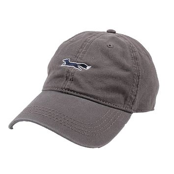Longshanks Solid Logo Hat in Grey Twill by Country Club Prep - FINAL SALE