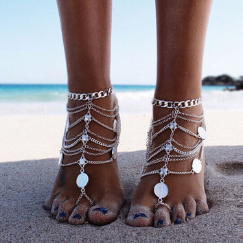 Fashion Chain Anklet Bracelet Foot Ankle Women Lady Jewelry Elegant = 4672524356