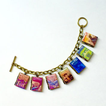 Harry Potter Series Book Bracelet/Literary Bracelet/Book Locket Bracelet/Necklace/Bookmark/Keyholder/Bag Charm