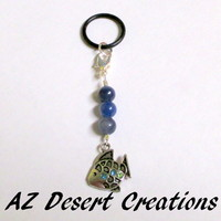 Vaping Charm Fish with Blue Adventurine MOD PV Charm