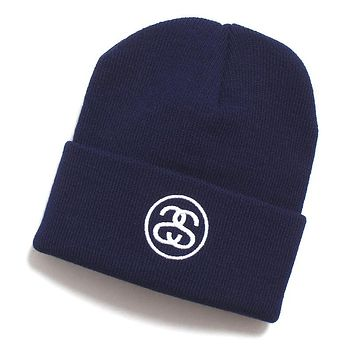 HO19 SS-Link Cuff Beanie Light Navy