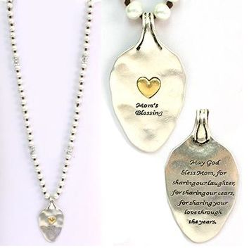 Faux Pearl Mom's Blessing Necklace